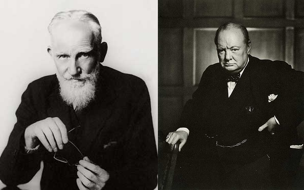 George Bernard Shaw (left) and Sir Winston Churchill had a cold relationship