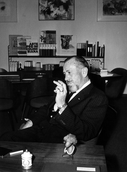 John Steinbeck Sitting At A Writing Desk
