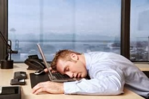 Man-Sleeping-at-Work