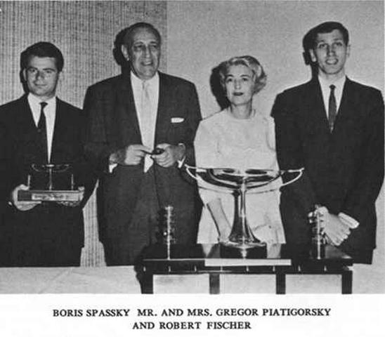 1966 Boris Spassky _ Mr and Mrs Gregor Piatigorsky _ Bobby Fischer