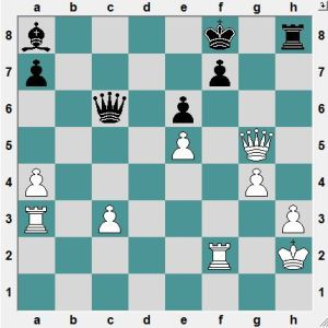 Black is threatening Qh1+ winning. But it is White's move.  White to play and win!