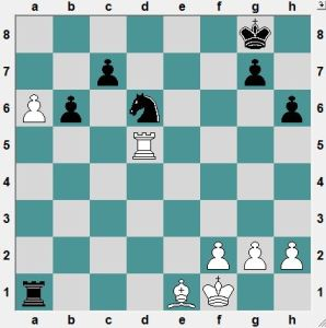 White had been playing for this position. Black seems to be picking up the a-pawn.  What does White have up her sleeve?