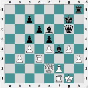The White King looks safe enough. Black to play and crush!