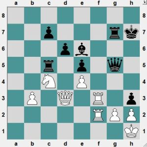 Black has attacking chances, but White is ok.  How can he force a draw?