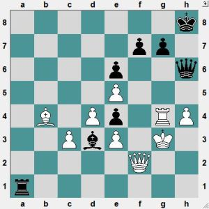 Rodshtein-Rublevsky. Black to play and win!