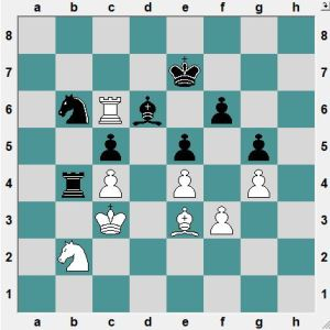Black had just played 36...Nb6? White to play and win!