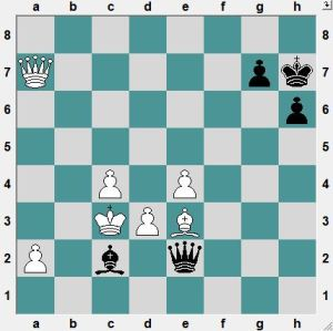 If now 49.Qd4?! Bb1! is unclear.  How does White force a win?