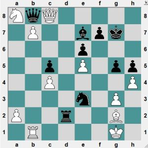 Malakhov-Orobov. Yesterday.  It looks as though the game is over and White's b-pawn must win the day. Black to play and draw!
