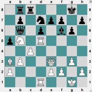 White to play and win material!