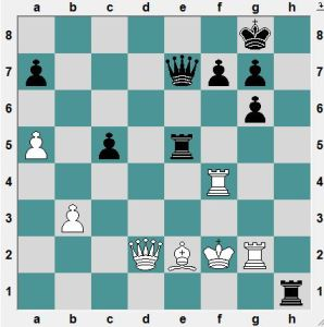 Vitiugov-Tomashevsky. In the game Black played 39...Rf5 and after 40.RxR Qh4+ 41.Ke3 PxR 42.Bf3! and the game soon ended in a draw. Instead, Black can win. How?