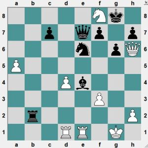 Shuvolava-Pogonina. In the game Black played 33...Qg5+ and only drew. How can Black win?