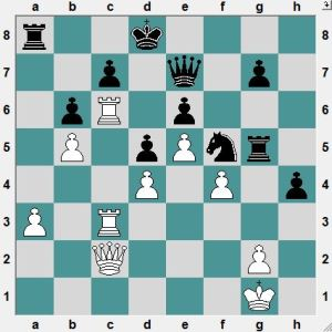 Black had just played 30...RxN, hoping for 31.PxR? Nxd4 with advantage.  White to play and win!