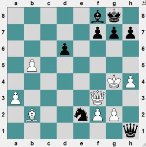 In the game Black played 42...f5+?! 43.KxP Qb1+ 44.Ke6! and the game is unclear. How can Black win easily?