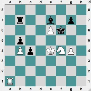 White to play and CRUSH!