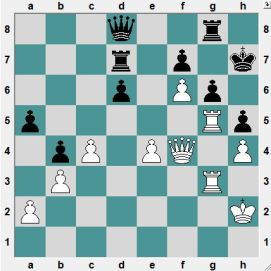 There can be no doubt that White is on top, but how to win is another question. White to play and CRUSH!