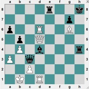 Neopomn'i-Grischuk. Yesterday.  A crazy game with both sides trying to win. Black threatens mate. White to play and win!