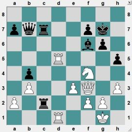 Black has needlessly sacrificed a pawn, but has good chances to recover it later on a2. The problem, however, is that Black is only thinking 'pawn', and White is thinking something entirely different! White to play and CRUSH!