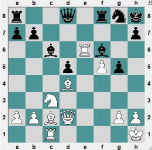 Whte has active pieces, and a safer King. White to play and win!