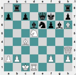 Shirov-Sevian. Stockholm. White had just played 26.Nd5  If now 26...Qd7 27.Nxc7! is a typical Shirov mess. Instead, Black to play and win!