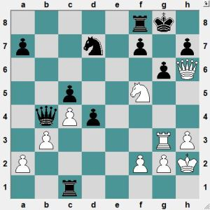White thinks he is winning!  WRONG! How should Black play?