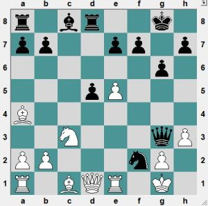 Shuvalova-Kosteniuk.  In the game White played 19.Qf3?! but was worse after 19...NxP+ 20.Kf1 Qh2!. Instead, how can White get the advantage?
