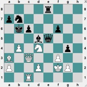 This is a gift for you! White to play and mate in two moves!