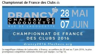 French Team Championship is undeway! Top-12. VERY strong. http://drancy2016.ffechecs.org/