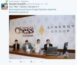 Hou Yifan and Caruana discussing their game at press conference. Caruana played a great game of theoretical importance http://www.shamkirchess.az/