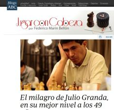 Granda getting some well deserved reputation in the Spanish press: http://abcblogs.abc.es/poker-ajedrez/public/post/milagro-julio-granda-mejor-nivel-ajedrez-elo-49-anos-18943.asp/