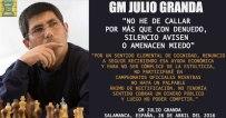 Granda's explanation why he is fed up with the Peru Chess Federation: http://torre64.com/julio-granda-no-he-callar-mas-denuedo-silencio-avisen-amenacen-miedo/