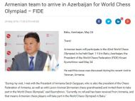Read carefully the fine print at the end. Nobody believes that Armenia will participate in the Baku olympiad after so many deaths earlier this spring.http://en.trend.az/azerbaijan/society/2537881.html