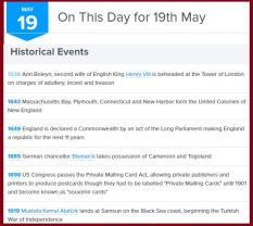 http://www.onthisday.com/day/may/19