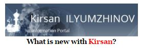 What is new with the Man?  http://kirsan.today/en/