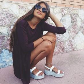 nybec7-l-610x610-anklet-maroon-elastic+band-glitter-wedges-platform+sandals-platform+shoes-long+sleeve+dress-aviator+sunglasses-stone-circle+anklet-white-white+platforms-white+platform+sandals