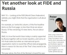 Peter Long's weekly column: FIDE beware! http://www.themalaymailonline.com/opinion/peter-long/article/yet-another-look-at-fide-and-russia