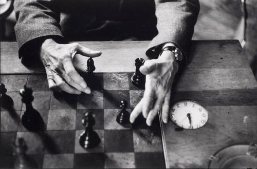 Marcel Duchamp's hands, New York City, 1959-60