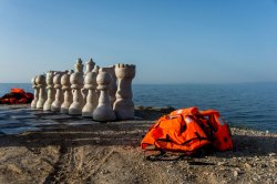 http://www.aljazeera.com/indepth/inpictures/2016/06/making-giant-chessboard-refugee-life-jackets-160605103440023.html