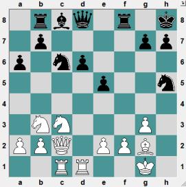 How does Black get a large advantage?