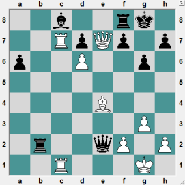 Obviously White is better. Find the forced sequence of moves that wins the game!