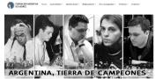 Front page of the Argentine Chess Federation (FADA) http://federacionargentinadeajedrez.org/