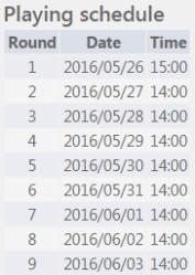 AsianContinental Schedule
