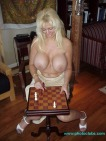 Blonde Kayla Kupcakes shows how to play strip Chess1