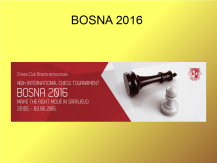 A great tournament! 135 players from 12 countries. 12 gms and 7 ims. http://skbosna.ba/index.php/en/