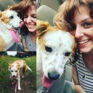 A porn star and her dog https://twitter.com/EmmaEvins