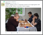 Congrats to Cliche! As for giving Vachier LaGrave so many Whites, I have often complained of FIDE allowing team matches to be rated. Rating manipulation is a common practice amongst the top 100 players, and it is shameful what happens and FIDE does nothing to stop it.