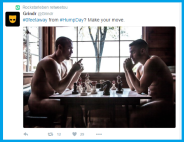 Two men playing naked chess? Are you at the right website?
