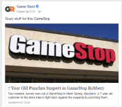 What is the world coming to? On the otherhand, don't mess iwth kids at games' stores! https://www.facebook.com/topic/GameStop/108398059180514?source=share&tr=1464906390