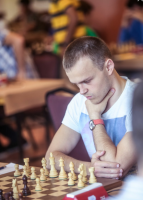 Feeling the pressure! Alexander Rakhmanov (I always misspell his name, despite being team mate with him for 3 years!)