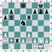 MONTCADA 2016.6.26 Teichmann, Erik--Cruz, Cristhian. Position before Black's 19th move. BLACK TO PLAY AND CRUSH!