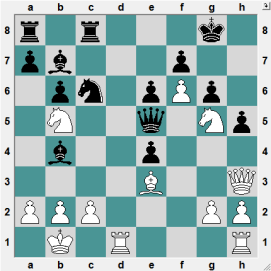MONTCADA 2016.6.28 Prince, Bajaj--Swayams, Mishra. Position after 20 moves. WHITE TO PLAY AND CRUSH!